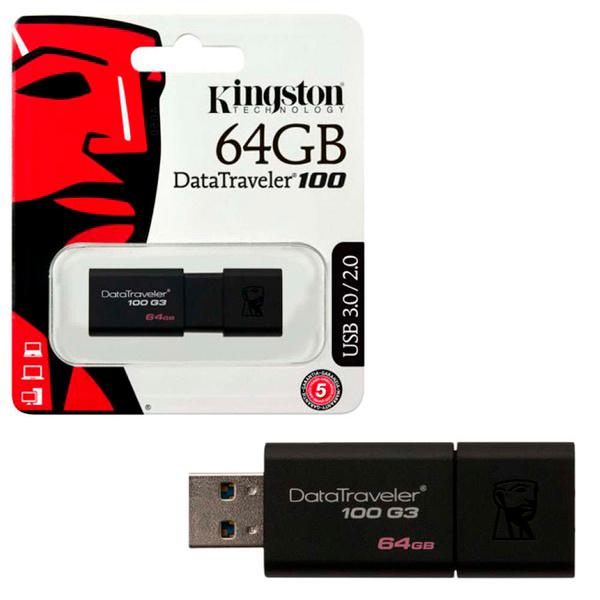 USB флеш Kingston Data Traveler DT100 64Gb USB 3.1 original