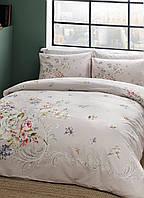 Комплект постельного белья tac ранфорс leila somon v02 семейный лососевый #S/H