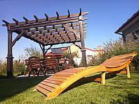 Деревянный лежак - шезлонг ERGO (дерево черешня), фото 1