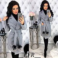 Стильное пальто женское кашемировое в разных цветах, фото 1
