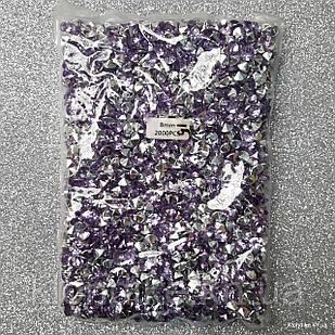 Стразы конусные, 8 мм, Акрил, Цвет: Фиолетовый (2000 шт.)