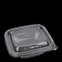 Контейнер с крышкой 250мл черный квадратный 1212,126*126*38мм(50 шт в уп.), фото 1