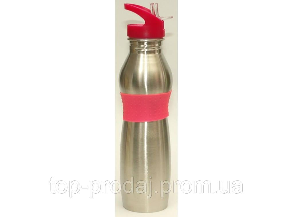 Дорожная поилка бутылочка для напитков 500 мл T40-1, спортивная бутылка для воды, термос с поилкой