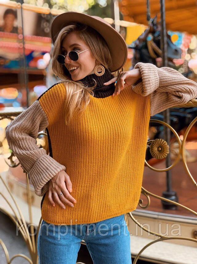 Женский вязаный свитер под горло, NC 3281