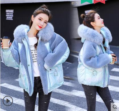 Женская зимняя курточка с меховым воротником, фото 2