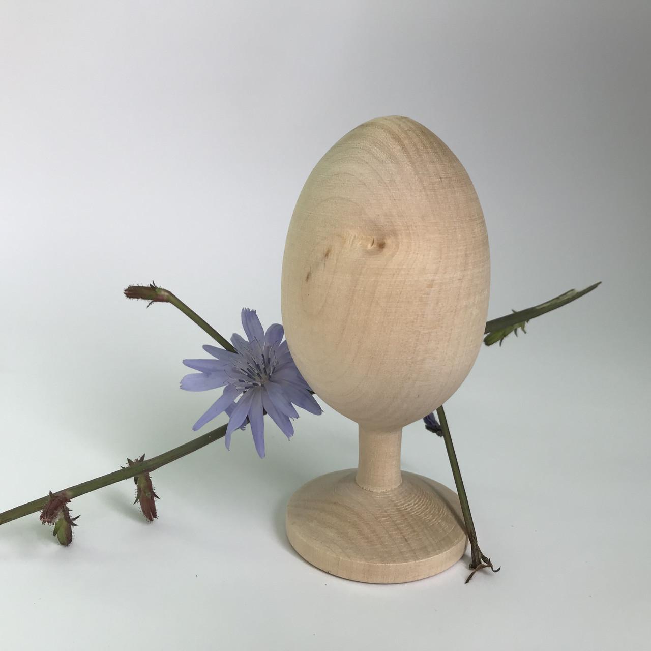 Яйце дерев'янне на ніжці 9*4.5