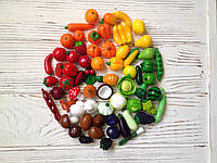 Мініатюрні овочі та фрукти з полімерної глини., фото 1