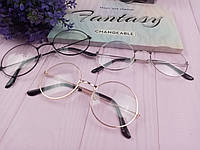 Имидж очки прозрачные круглые