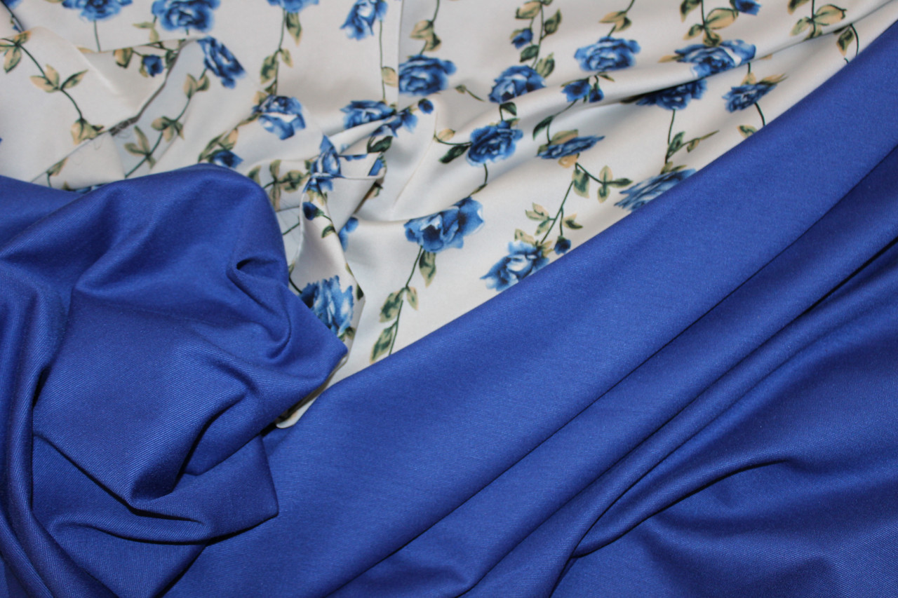 Синий яркий .Ткань джерси, фото 1
