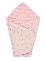 Плед плюшевый детский 75х85 см (розовый) DOTINEM Minky