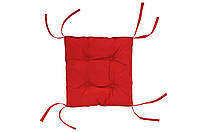 Подушка на стул красная 40х40 см DOTINEM COLOR