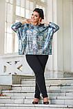 Женский брючный костюм двойка туника яркая и штаны  батал размер: 50-52, 54-56, 58-60, фото 2