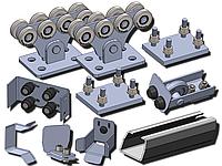 Фурнитура для откатных ворот SP-5 STANDART-pro, до 500 кг, черная 3,5 мм, от 3 - 3,5 м, до 500 кг, Черная 3,5 мм, 5м