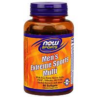 Мультивитамины для мужчин Now Foods Men's Extreme Sports Multi 90 софтгель, фото 1
