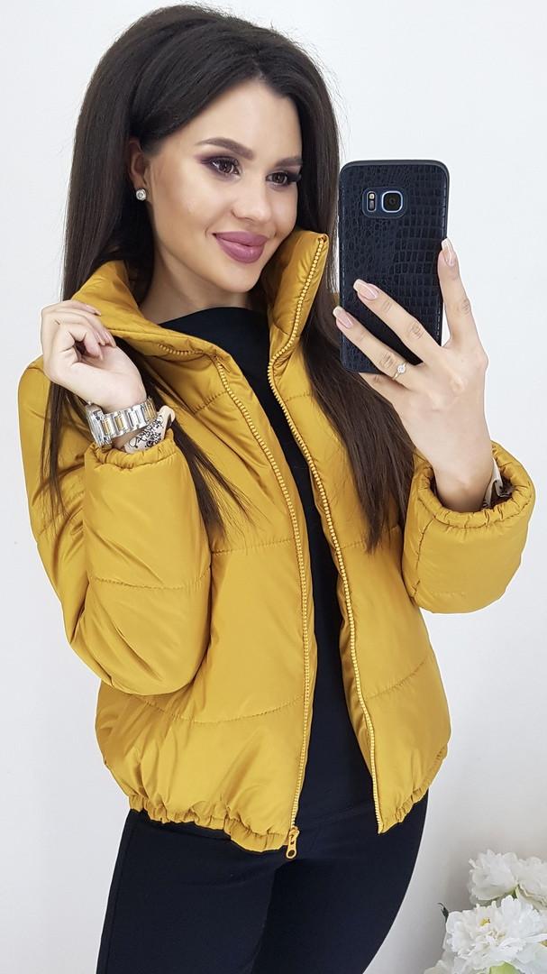 Женская демисезонная дутая куртка в расцветках