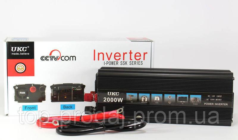 Преобразователь AC/DC 2000W SSK, автомобильный инвертор, авто преобразователь, преобразователь напряжения