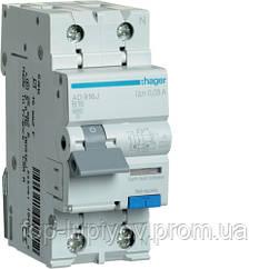 Дифференциальный автоматический выключатель 1P+N 6kA B-16A 30mA A, Hager