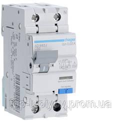 Дифференциальный автоматический выключатель 1P+N 6kA C-32A 30mA A, Hager