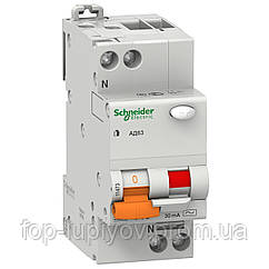Диф. автом. выключатель АД63, 2P 16А 30мА (х-ка С), 11473, Schneider Electric
