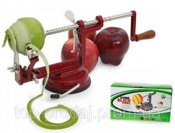 Яблокочистка механическая, Яблокочистка Core Slice Peel, Машинка для очистки яблок, яблокочистка яблокорезка