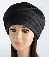 Теплая женская шапка Полли цвет черный
