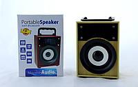 Мобильная Колонка SPS KTS 668 BT, Компактная портативная колонка, Bluetooth акустика с ФМ радио