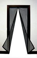Занавеска маскитная Magic Mesh 100*210 см, Антимоскитна сетка на двери, Магнитная штора от комаров, насекомых