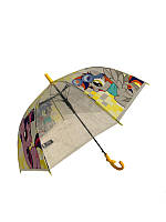 """Детский зонт-трость """"Пинки пай"""" от Mario, с желтой ручкой, TF5-6"""