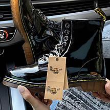 Женские зимние ботинки Dr. Martens 1460 Patent Black с мехом, фото 2