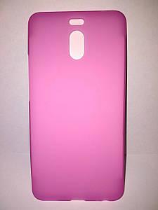 Чехол бампер силиконовый для Meizu M6 Note. Розовый