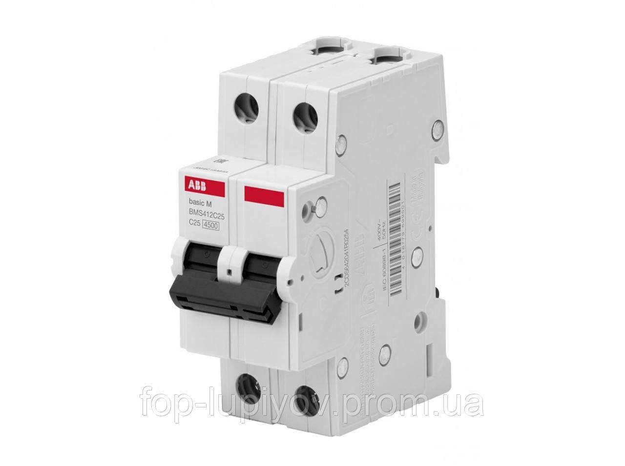 Автоматический выключатель BMS412C10, 2Р 10А 4.5 кА х-ка C, ABB