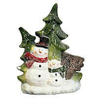 Статуэтка с подсветкой Lefard Снеговик 49 см 1006NQ фигурка новогодняя светящаяся