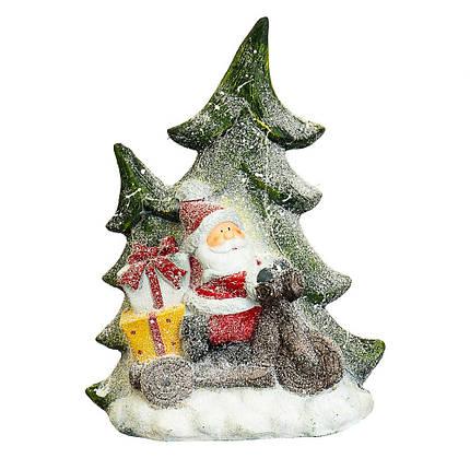 Статуэтка с подсветкой Lefard Санта 50 см 1005NQ фигурка новогодняя светящаяся Дед Мороз, фото 2