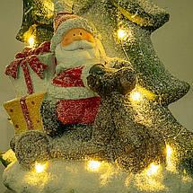 Статуэтка с подсветкой Lefard Санта 50 см 1005NQ фигурка новогодняя светящаяся Дед Мороз, фото 3