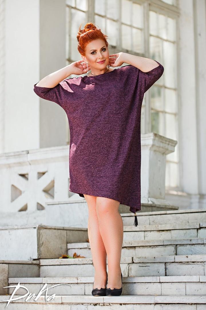 Женское платье туника свободного фасона ангора софт размер: 46-48, 50-52, 54-56