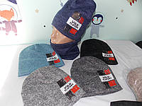 "Комплект ангора двойная на ФЛИСЕ  ""WILD"" шапка и баф,снуд размер 52-56 подросток., фото 1"