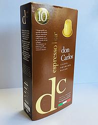 Nespresso капсулы DON CARLOS Espresso Bar (Неспрессо) 10 шт. Италия