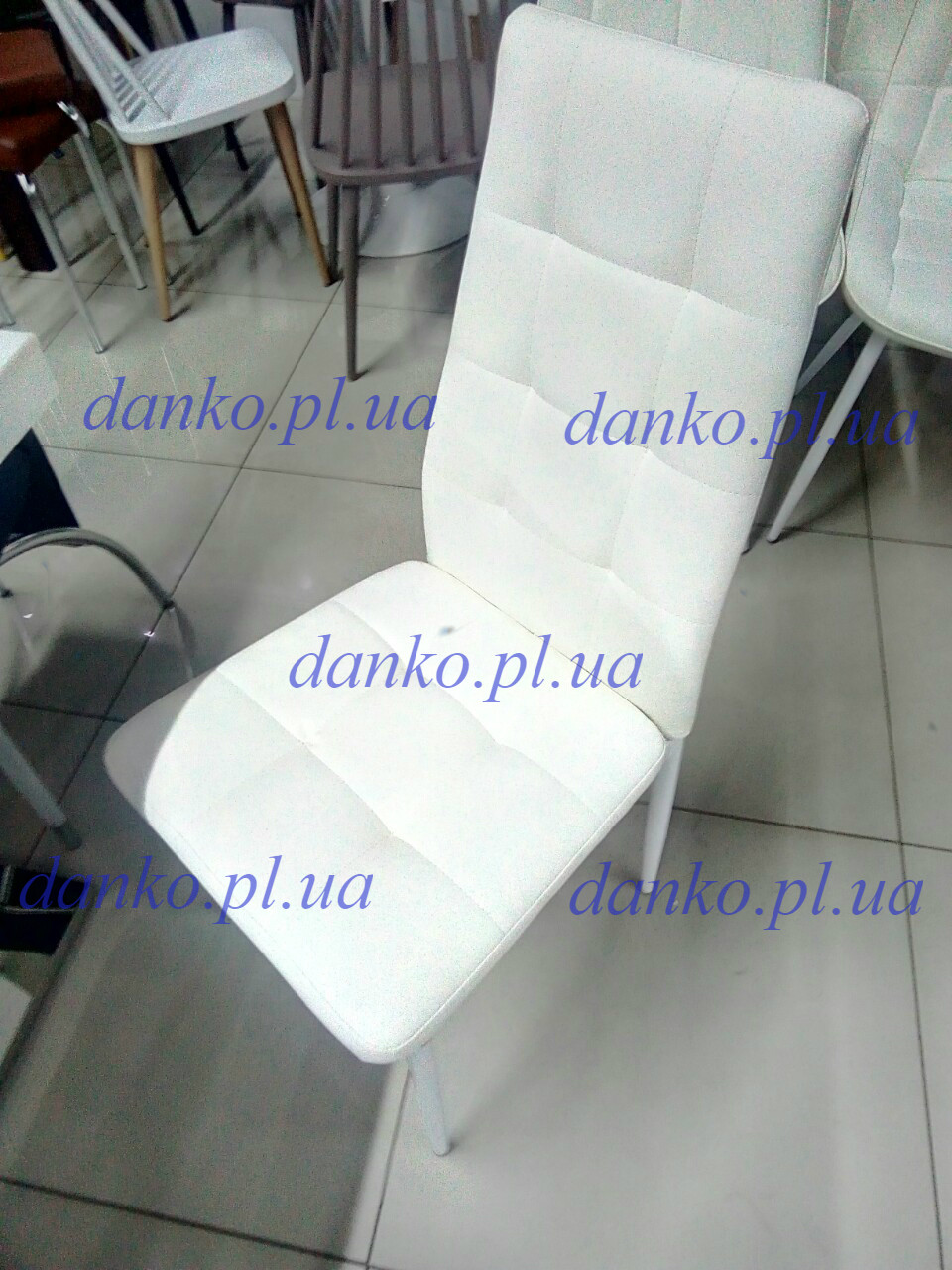 Стул N-66-2 белый от Vetro Mebel, экокожа