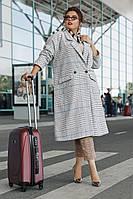 Женское кашемировое свободное пальто (Батал)