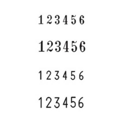 Нумератор автоматичний 4,5мм, 6-ти розрядний, шрифт-block, REINER B6/6, фото 2