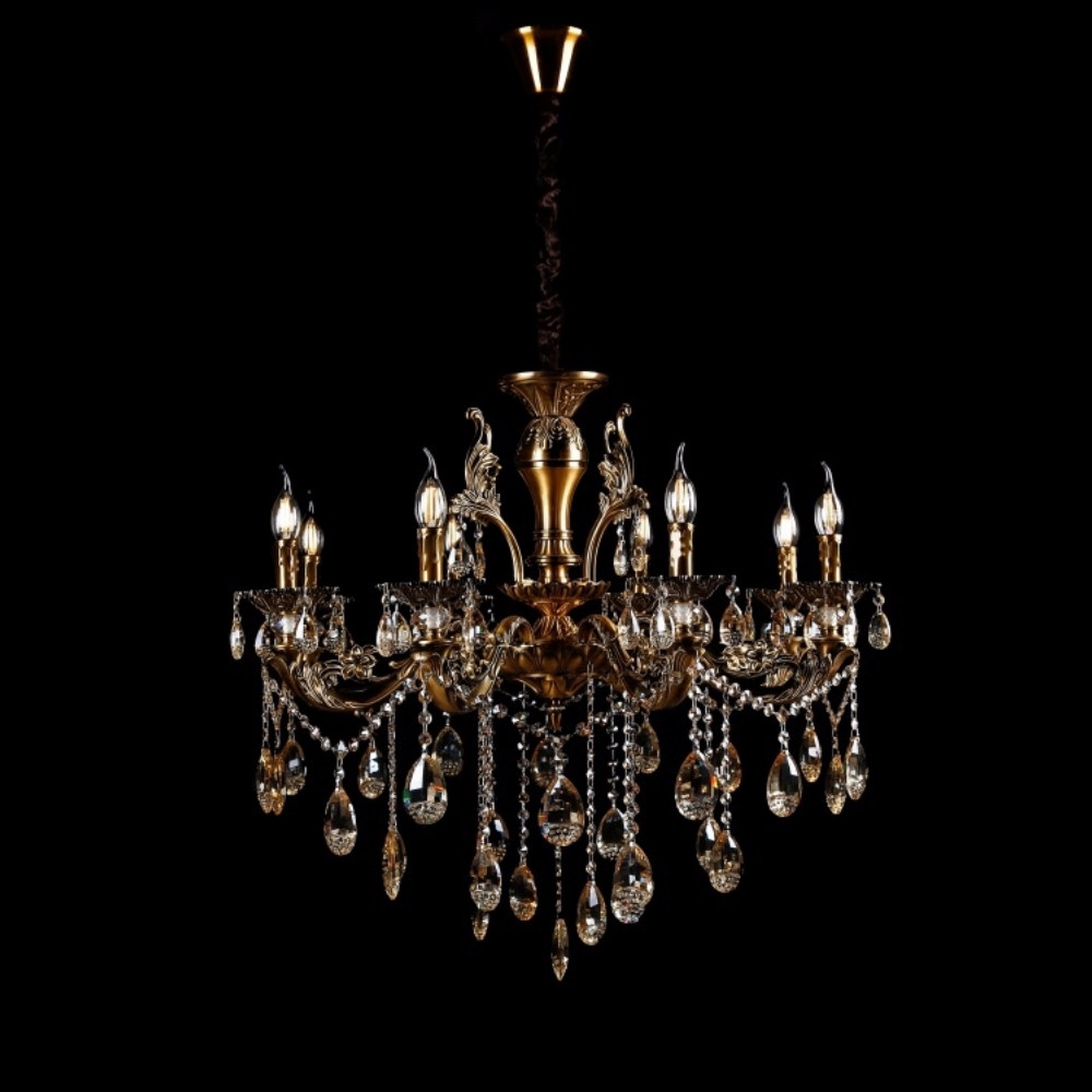 Классическая люстра-свеча на 8 лампочек СветМира VL-8137/8 (GAB)