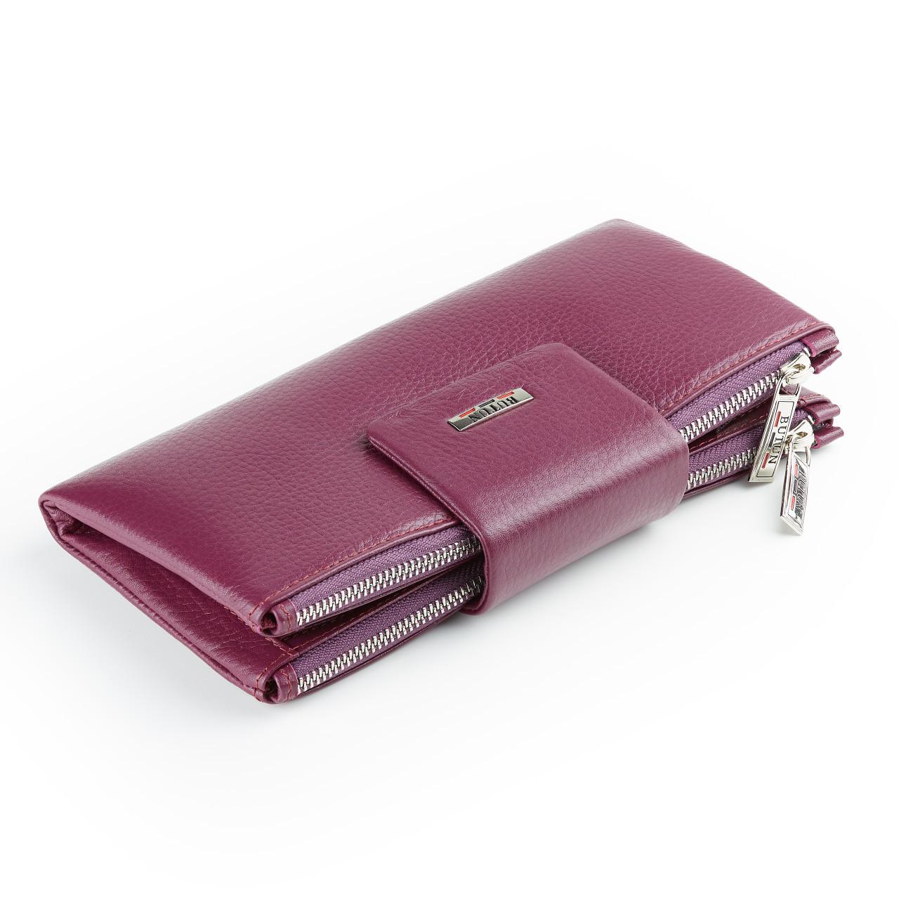 Большой женский кошелек BUTUN 507-004-005 кожаный марсала