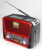 РАДИОПРИЕМНИК GOLON RX-455 SOLAR C ФОНАРИКОМ И СОЛНЕЧНОЙ ПАНЕЛЬЮ MP3 USB FM SD, фото 1