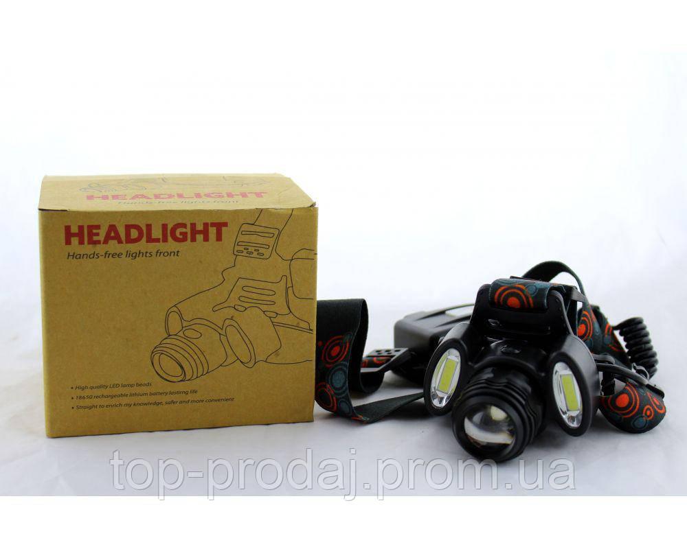 Фонарик на лоб BL 862 T6+COB, налобный фонарик