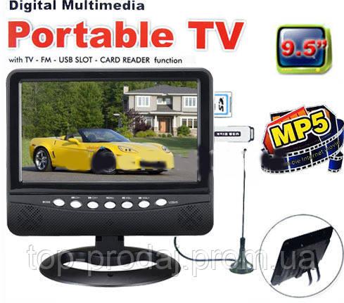 """Автомобильный портативный телевизор 9"""" TV NS-901,Телевизор в авто 9 дюймов, Телевизор Digital Portab TV USB"""