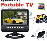 """Автомобильный портативный телевизор 9"""" TV NS-901,Телевизор в авто 9 дюймов, Телевизор Digital Portab TV USB, фото 1"""