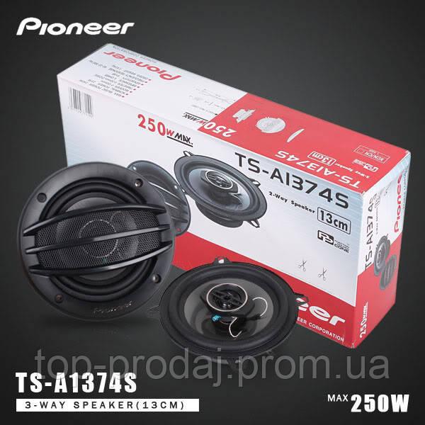 Автоколонки Pioneer TS-1374, Автомобильные акустические динамики колонки, колонки Pioneer 13 см в автомобиль