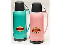 Термос стекло  T143 1 Л, Компактный термос для напитков, еды, Пластиковый термос со стеклянной колбой