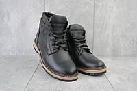 Мужские ботинки кожаные зимние черные Brand Б-27, фото 1