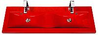Двойной умывальник раковина GREKON  Clever-1200D FALA Красная